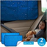 aokway Car Sun Shade Car Window Shade Double Thickness Rear Side Window Auto Sunshades Universal Fit for rv Truck for Baby UV Protection 2 Pack