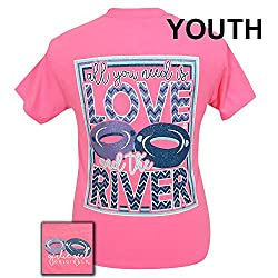 Girlie Girls All You Need is Love and the River Short Sleeve T-Shirt - YOUTH