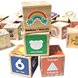 Alphabet Blocks Toys for Toddlers - Jumbo Bilingual Educational Toys for 2 Year Olds, Stacking Toys & ABC Games for Kids 3 4 5 with 30 Wooden Blocks, Toddler Learning Activities eBook