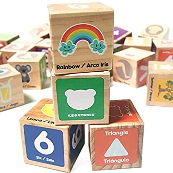 Alphabet Blocks Toys for Toddlers - Jumbo Bilingual Educational Toys for 2 Year Olds Stacking Toys & ABC Games for Kids 3 4 5 with 30 Wooden Blocks Toddler Learning Activities eBook