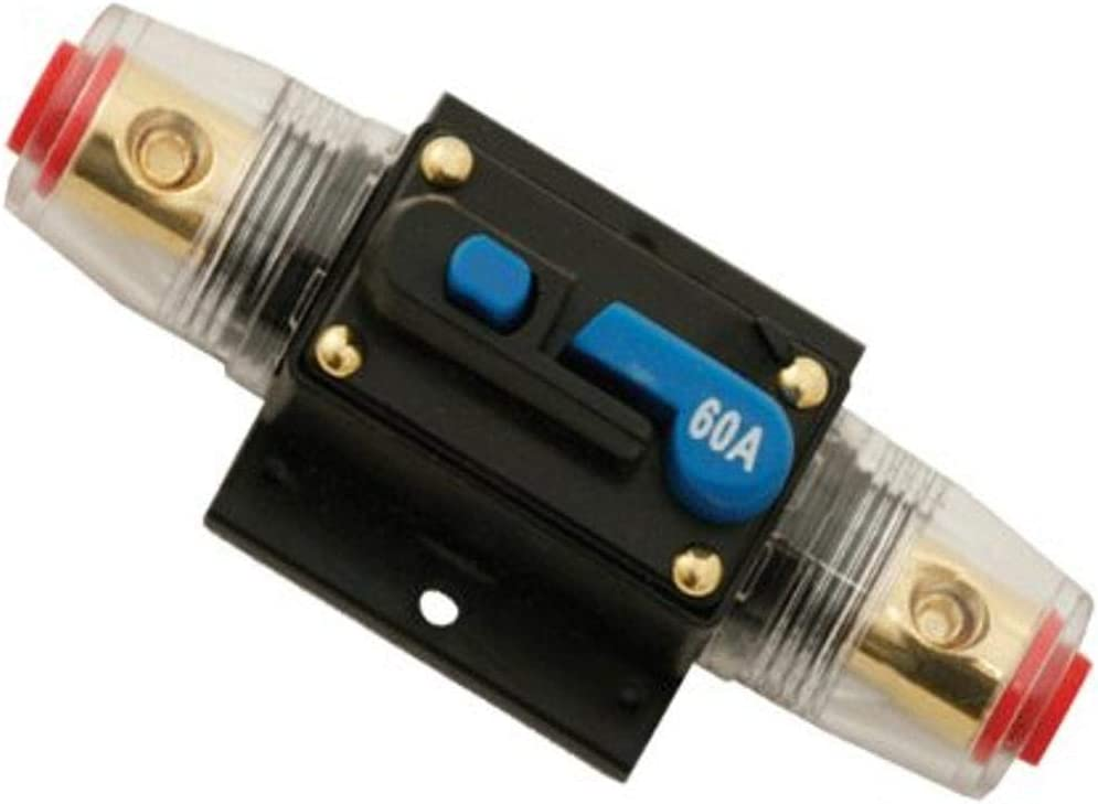 Absolute USA ICB-60 60-AMP AGU Fuse Holder with Built-In Circuit