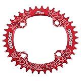 Anillo ovalado de cadena de aluminio MTB marca Grofitness para reparar bicicletas, rojo, Oval 32T