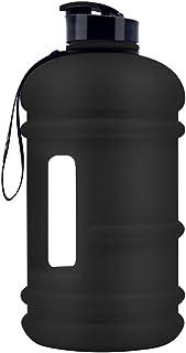 مطرة ماء رياضية كبيرة قابلة لاعادة الاستخدام بسعة 2.2 لتر، 75 اونصة، نصف جالون، خالية من البيسفينول A ومانعة للتسريب لصالة...