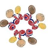 金メダル 銀メダル 銅メダル メダルセット 運動会 幼稚園 ご褒美 優勝メダル (金3枚銀3枚銅3枚合計9枚セット)