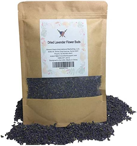 Organic Dried Lavender Flower Buds 4 oz Edible Flowers To Be Added To Tea and Food Offering product image
