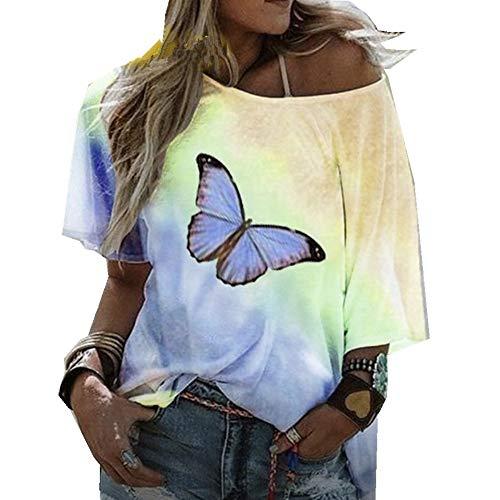 x8jdieu3 Sommermode Rundhalsausschnitt Loose Hooded Printing & Dyeing Street Kurzarm-T-Shirt Damenhemd