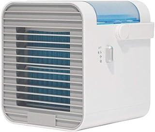 LEEDY - Ventilador de aire acondicionado de carga USB, mini refrigerador, portátil, pequeño aire acondicionado para el hogar y la oficina