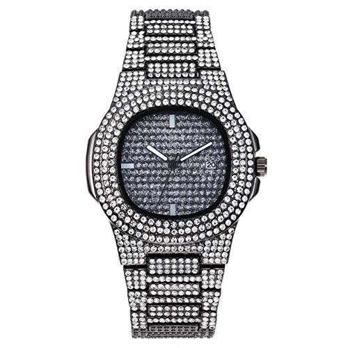 New Gypsophila Steel Band Diamond Men's Watch Business Fashion Rhinestone Face Cuarzo Reloj De Las Mujeres, Reloj De Hombre Ajustable, Reloj Magnífico De Los Hombres Del Temperamento, Correa De 24 Cm