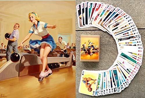 FlonzGift Pinup Girls Kartenspielen (Poker 54 Karten alle Anders) Vintage Retro Pin Up Sexy Girls by Art Frahm