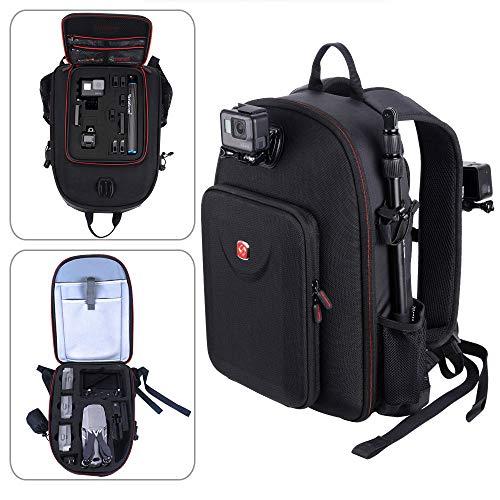 Smatree Backpack Compatible with DJI Mavic 2 Pro/Mavic 2 Zoom/GoPro Hero 2018/ Hero 9/8/7/6/5/4/3 Plus/3,Fit for DJI Smart Controller