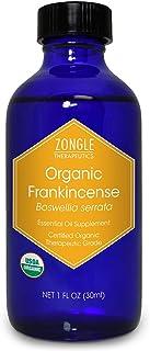 Zongle USDA Certified Organic Frankincense Essential Oil, Safe To Ingest, Boswellia Serrata, 1 OZ