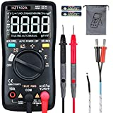 HASAGEI Multimeter, T-RMS 6000 Counts Digital Voltmeter Battery Voltage Tester, Auto-Ranging Ohmmeter with NCV Function, Can Smart test AC/DC Voltage, Resistance, Continuity