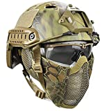 Airsoft Tactical Fast Helmet con Máscara Goggle, Lightweight Safety...