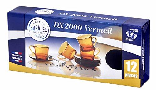 Duralex 9006DS12A0111 Estuche 6 tazas 18 cl con plato Vermeil