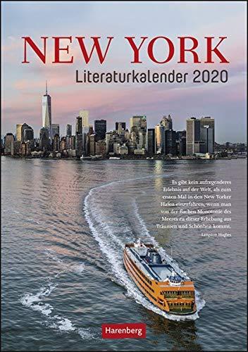 New York Literaturkalender Wochen-Kulturkalender. Wandkalender 2020. Wochenkalendarium. Spiralbindung. Format 25 x 35,5 cm