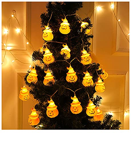 Gallity Halloween Pumpkin Lights, 20 LED Battery Powered String Lights, 3D...