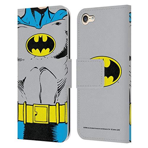 Head Case Designs Licenciado Oficialmente Batman DC Comics Disfraz clsico Logotipos Carcasa de Cuero Tipo Libro Compatible con Apple Touch 6th Gen/Touch 7th Gen