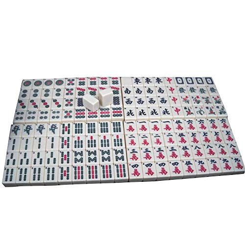 Linjolly Ausgezeichnete Textur Mini Mahjong Chinesisch Traditionelles Spiel Sammlung Party Spiel Family Board Spiele Unterhaltung Mini Mahjong (Color : White, Size : 24mm)