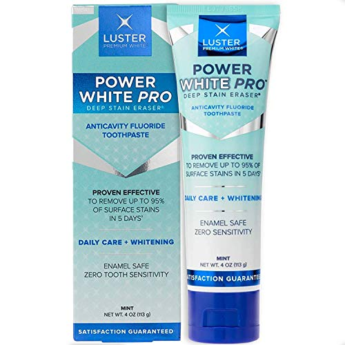 Premium White | Power White Pro Daily Care Deep Stain Eraser Teeth Anticavity Fluoride Whitening Toothpaste, Mint