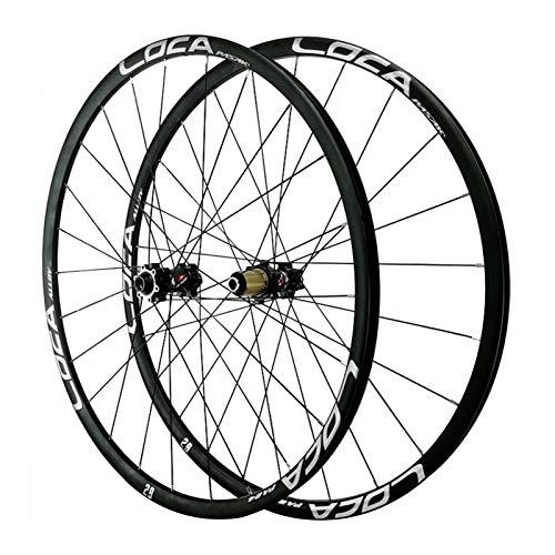 Rueda para Bicicletas,24 Hoyos Aleación de Aluminio Volante Inercia de 12 Velocidades Freno de Disco 26/27,5/29 Pulgadas(700C) Ciclismo Wheels Montaña Deportes (Color : Black, Size : 26in)