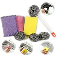 8-Pack Inshere Kitchen Scrubbing Sponges Cleaning Kits