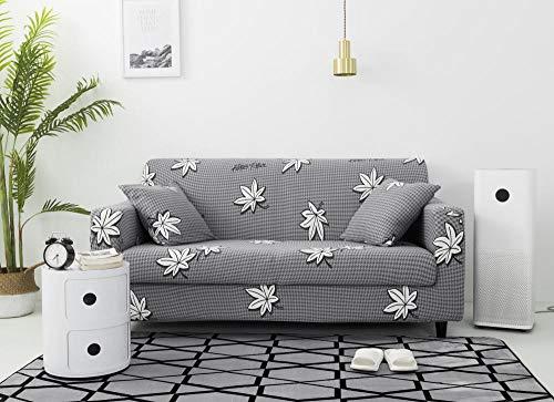 Funda de sofá de Siete plazas en Forma de L, Funda de sillón en Forma de L para Sala de Estar, Funda Protectora Elegante y Suave con Todo Incluido,Color28,4-Seater_235-300c