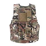 Alomejor Chaleco de Camuflaje para niños Chaleco para niños Ejército Chaleco de Combate Militar Chaleco de Camuflaje para Juegos al Aire Libre(CP Camouflage)