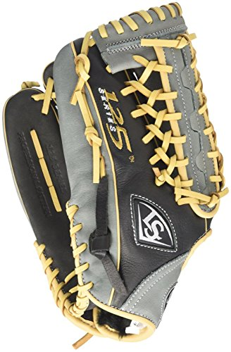 Louisville Slugger 125 Series Softball Outfielder's Glove, Right, Black/Gray, 12.75'