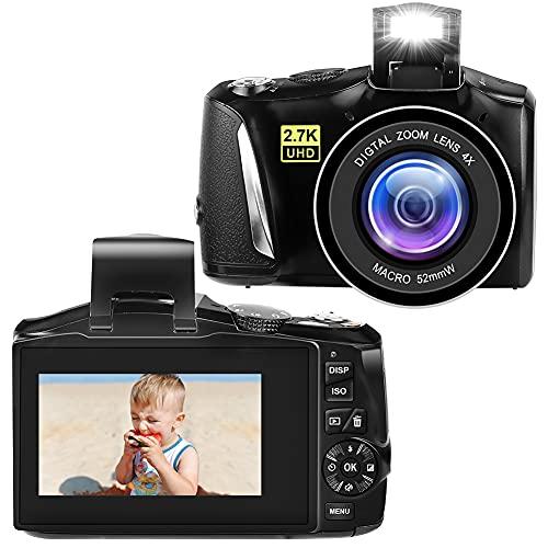 Cámara Digital Camaras de Fotos Digital 2.7K Full HD Compact Camera 48...