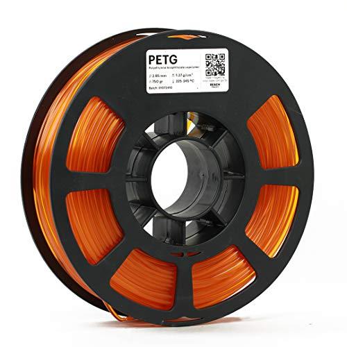 KODAK PETG Filament 2.85mm for 3D Printer, Translucent Orange PETG, Dimensional Accuracy +/- 0.02mm, 750g Spool (1.7lbs) PETG Filament 2.85 Used as 3D Filament Consumables to Refill Most FDM Printers