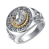 Yoursfs Edelstahl Ring Löwenkopf Ringe Cool für Männer Silber Ringe Geschenke für Weihnachten