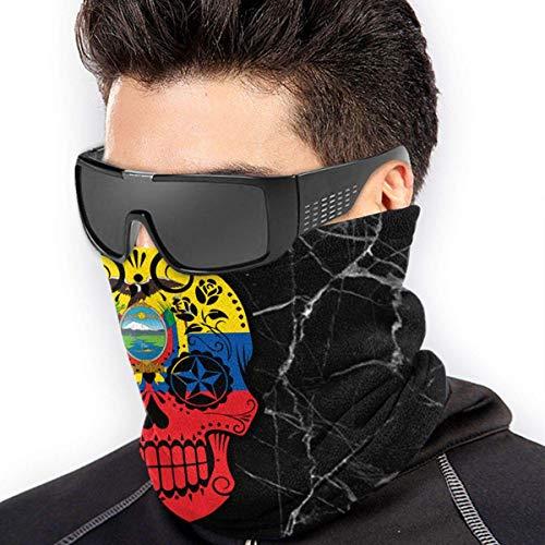 TJKK Bandera Ecuatoriana Calavera de Azúcar Micro Fibra sin costuras a prueba de viento Bandana y máscara facial y calentador de cuello Escudo – para Unisex