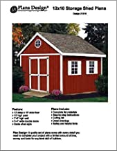 12' x 10' Gable Storage Shed Project Plans -Design #21210