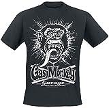 Gas Monkey Garage Explosion Hombre Camiseta Negro M, 100% algodón, Regular