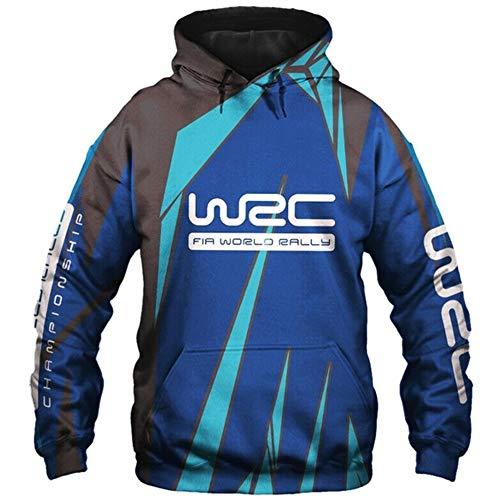 Martin Felpe con Cappuccio,Giacche Wrc Fia Mondo Rally Campionato 3D Pieno Stampa Cardigan Magro Uomo & Donna Casuale Poliestere Sweatshirt Gli Sport / A1 / 2XL
