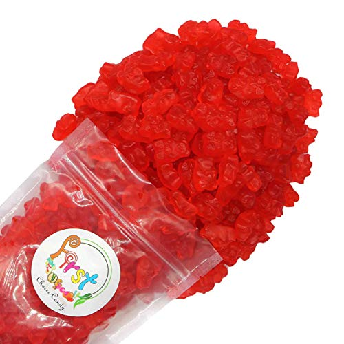FirstChoiceCandy Albanese Gummy Bears (Fresh Red Strawberry, 1 LB)