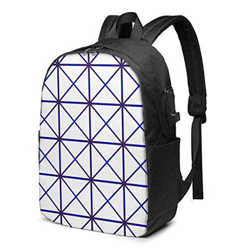 Hdadwy Durable Laptop Backpack 17 Inch Travel Backpack Bookbag with USB Charging Port for Women Men Fits Laptop and Notebook,Modern Stylish Texture Design