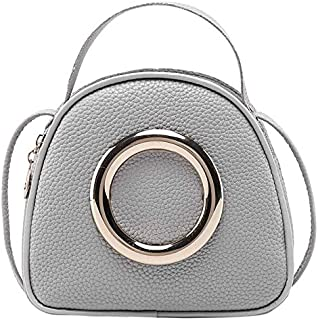 TOOGOO Fashion Leather Little Girl Handbag Multi-Function Fashion Lady Messenger Bag 2019 Gray