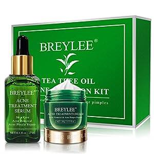 Acne treatment products Acne Treatment, BREYLEE Tea Tree Oil 2 in 1 Acne Solution Kit Acne Treatment Kit