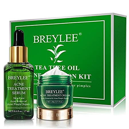 Acne treatment products Acne Treatment, BREYLEE Tea Tree Oil 2 in 1 Acne Solution Kit Acne Treatment Kit