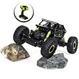 Best Choice Products 2.4 GHz 1/18 Scale Rock Crawler Monster Truck RC Car, Green/Black