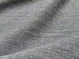 Stoff in Leinenoptik Meterware zum Nähen Schneidern (grau,