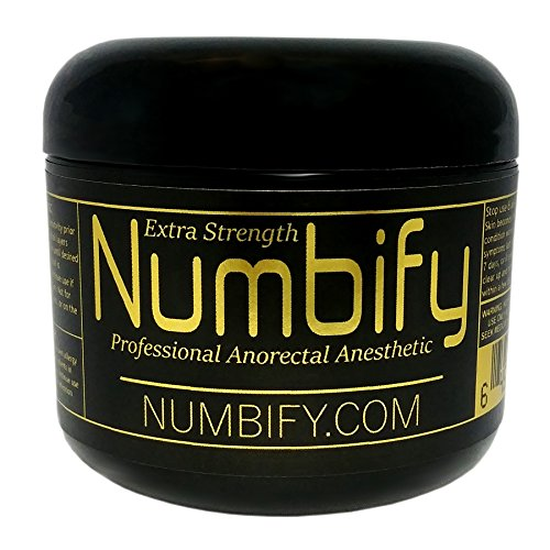 Numb-ify Numbing Cream 5% Lidocaine Extra Strength Anesthetic - Numb-ify's Strongest/Best Pain Relief & Numbing Cream (4 Oz)