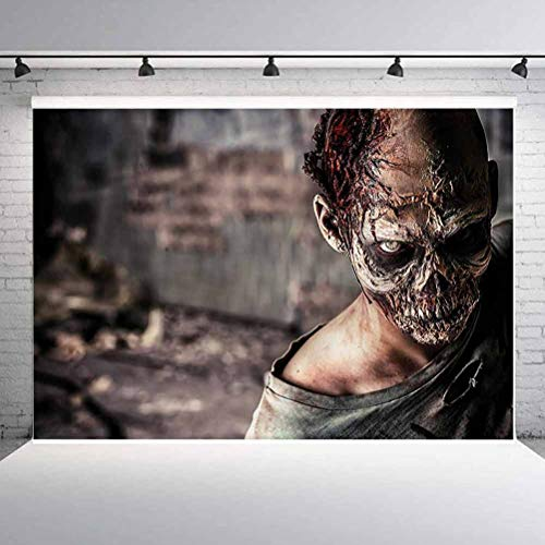 8x8FT Vinyl Wall Photography Backdrop,Zombie,Creepy Look Killer Background for Baby Shower Bridal Wedding Studio Photography Pictures