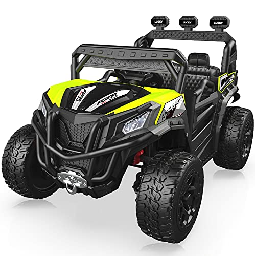 ANPABO Ride On Car, 12V Ride On Truck with Remote Control,...
