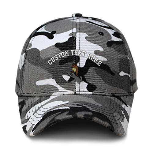 Custom City Camo Baseball Cap Groundhog Day Embroidery Acrylic Hunting Dad Hats for Men & Women Strap Closure City Camo Personalized Text Here