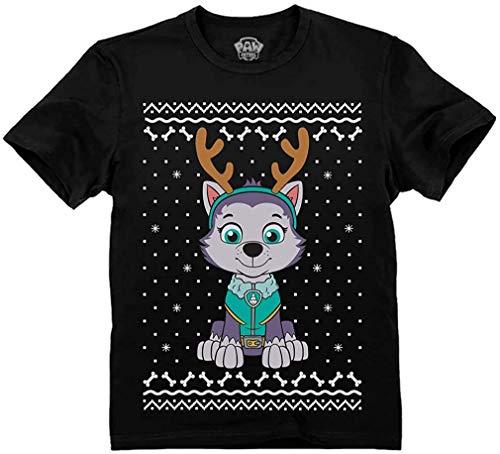 Quafoo Ugly Christmas Everest Reindeer Toddler Kids T-Shirt,Black,4T