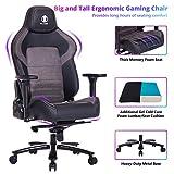 Big and Tall 440lb Gaming Chair Metal Base Memory Foam Lumbar/Seat Cushion