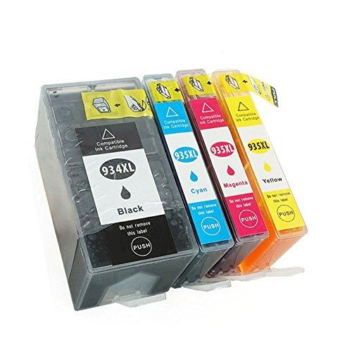 Hyggetech 4 cartuchos de tinta XL de repuesto para HP934 934XL 935 935XL compatibles con HP Officejet Pro 6230 Officejet 6820 6830