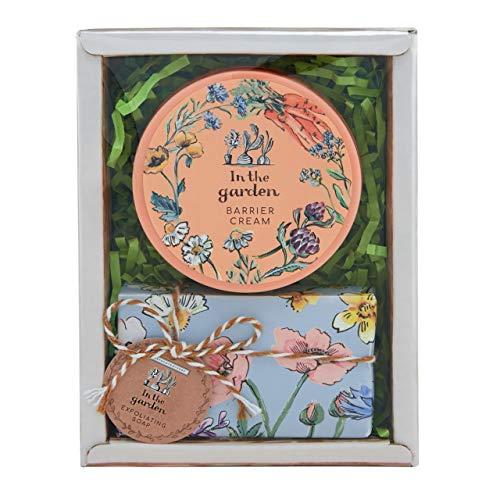 Heathcote & Ivory In The Garden Mini Geschenkkorb Geschenkset mit 50 ml Barrierecreme und Peelingseife, 0,204998 kg